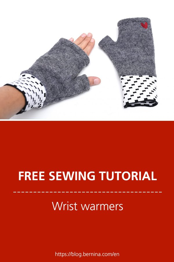 Free sewing instructions: Wrist warmers