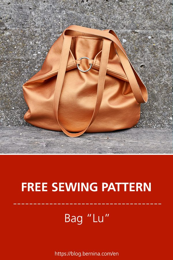 Free sewing pattern bag Lu