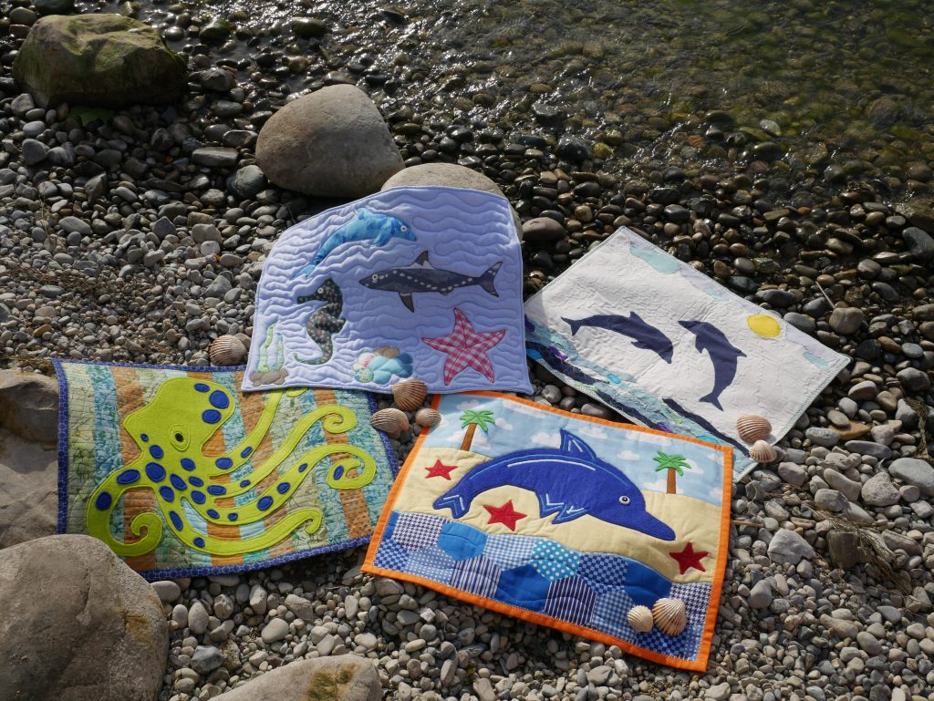 Animal quilts on water and in the air