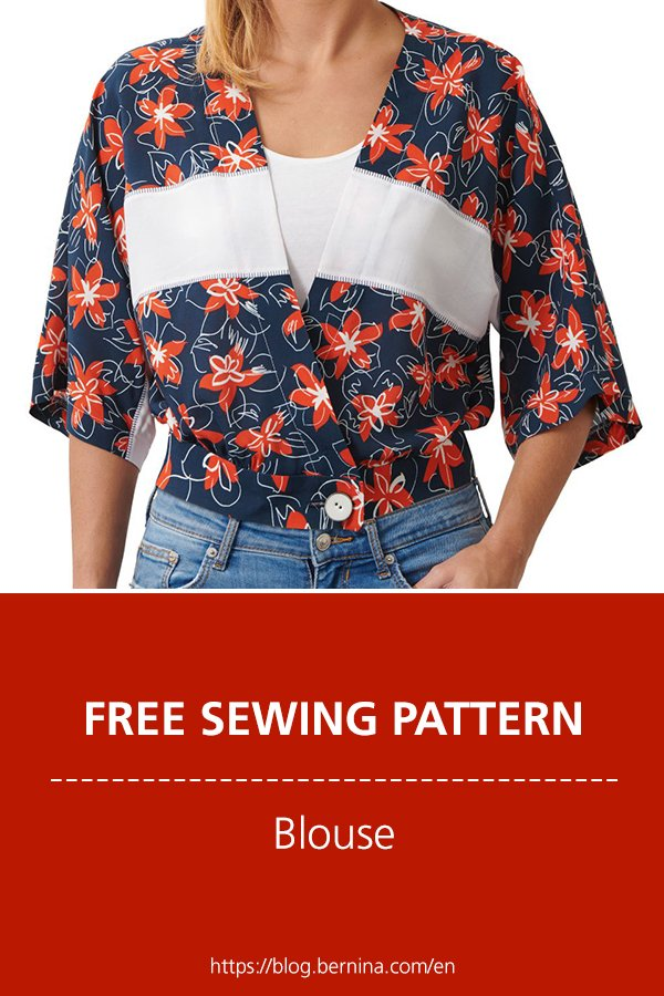 Free sewing pattern & instructions: Blouse