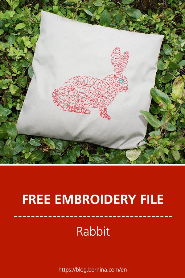 Free embroidery pattern: Rabbit