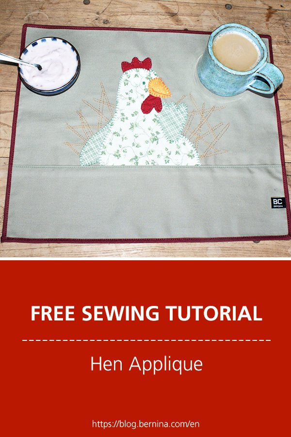 Free sewing tutorial: Hen applique for spring & Easter
