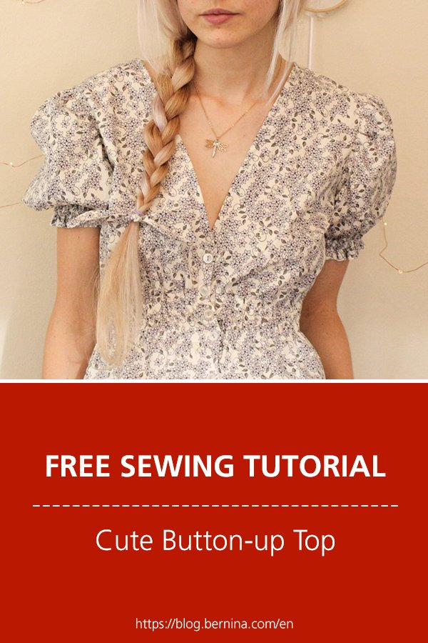 Free sewing instructions: Cute Button-up Top