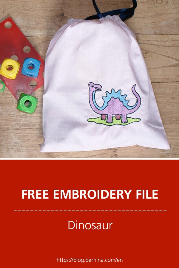 Free embroidery pattern: Dinosaur