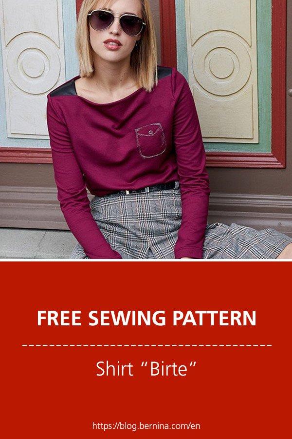 """Free sewing pattern & instructions: Shirt """"Birte"""""""