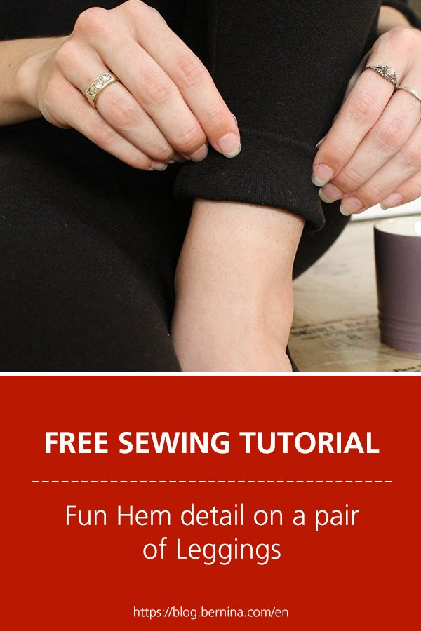 Free sewing instructions: Fun Hem detail on a pair of Leggings