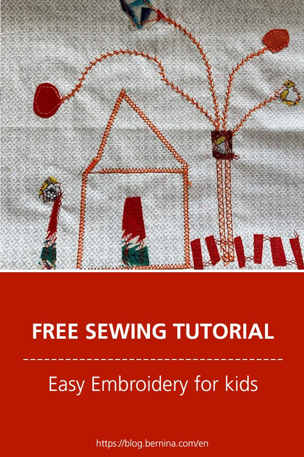 Free embroidery pattern: Easy Embroidery for kids