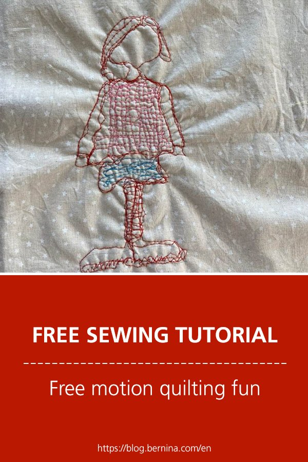 Free embroidery pattern: Free motion quilting fun