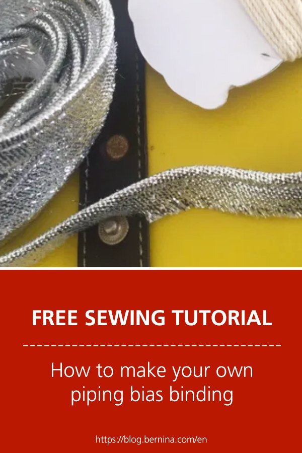 Free sewing instructions: How to make your own piping bias binding