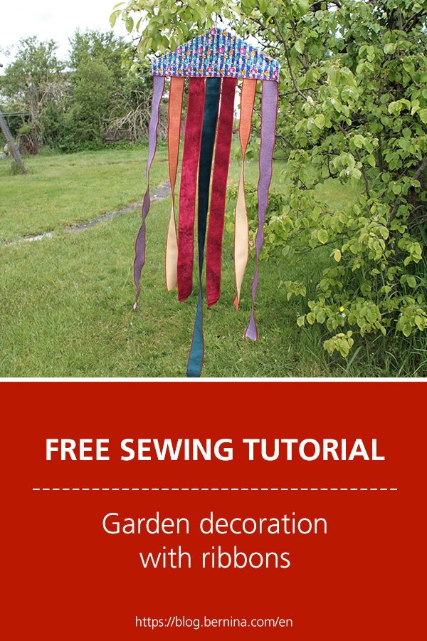 Free sewing tutorial: Garden decoration with ribbons