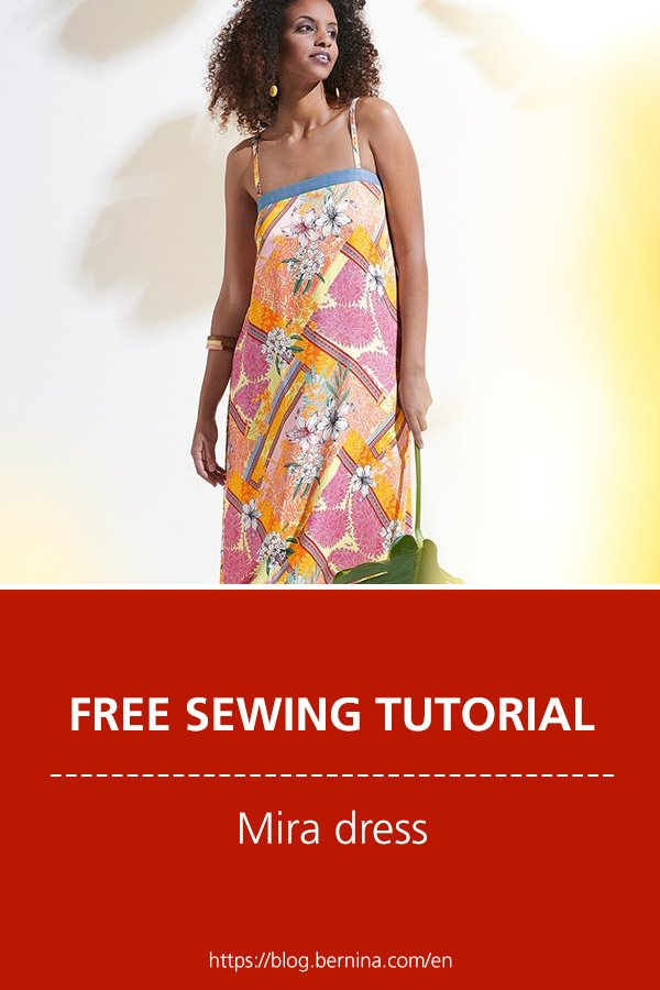 """Free sewing pattern for the """"Mira"""" dress"""