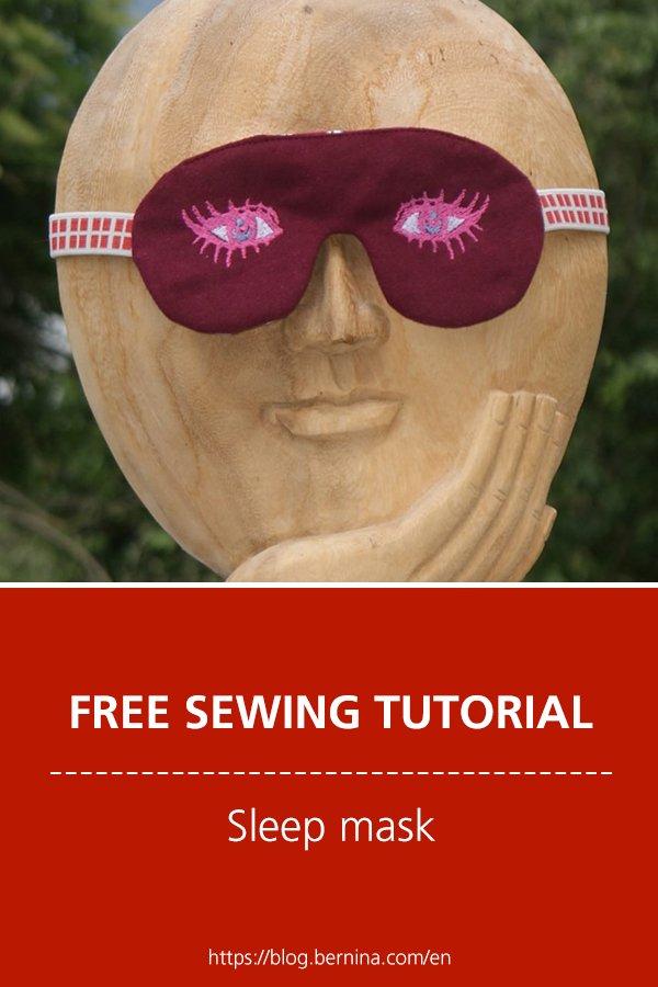 Free embroidery pattern: Sleep mask