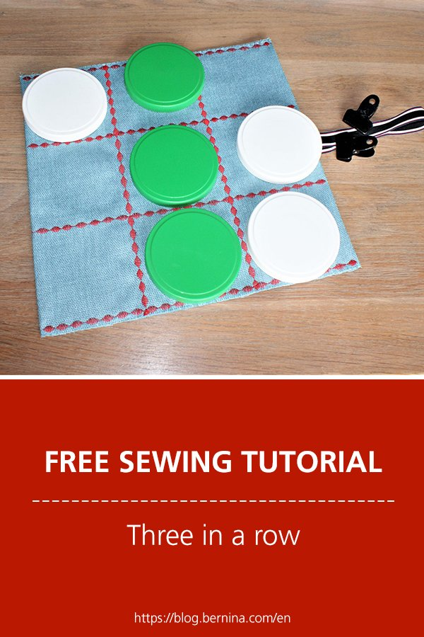 Free sewing pattern & instructions: Three in a row