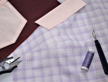 Tips for collar darts topstitching