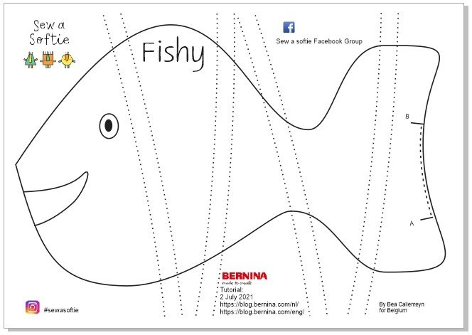 Sew a softie with children Fishy
