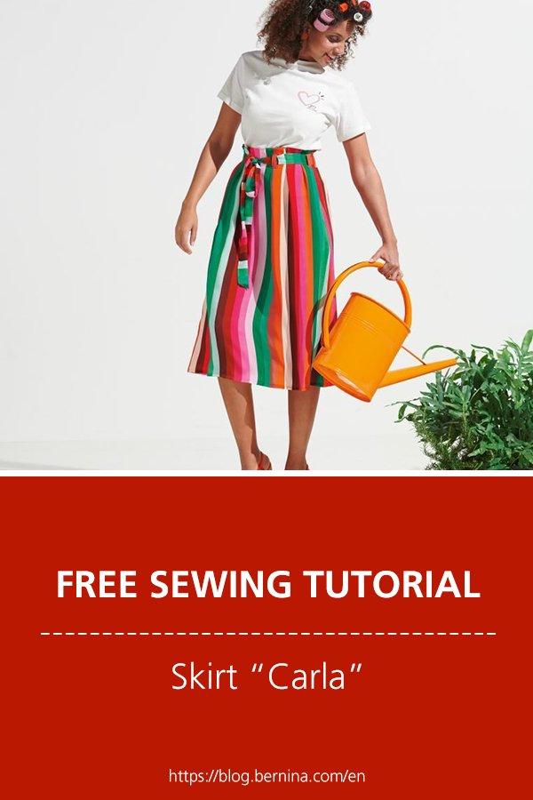 "Free sewing pattern & tutorial: Skirt ""Carla"""