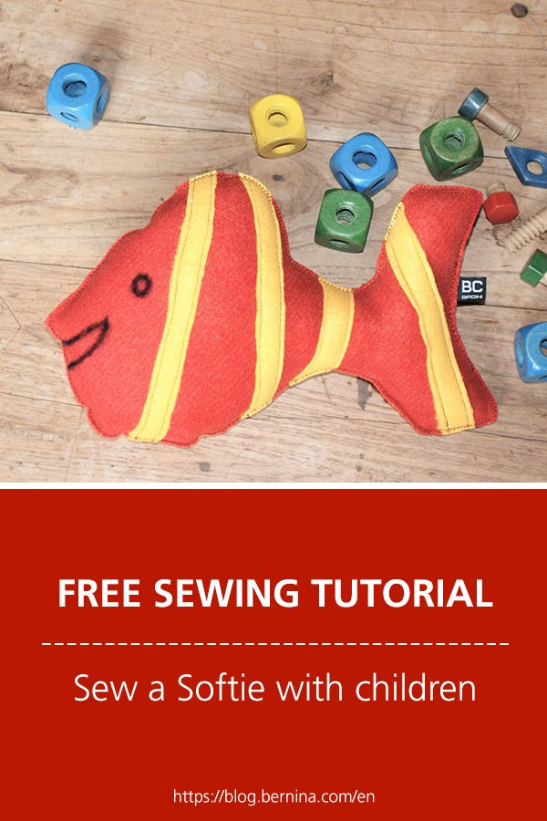 Free sewing instructions: Sew a Softie with children