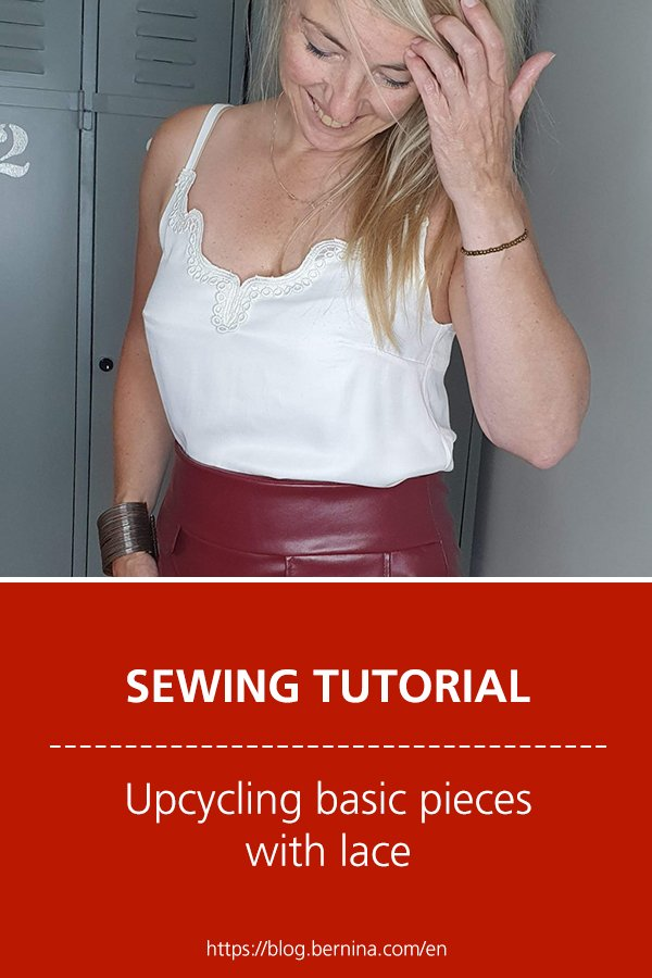 Free sewing instructions: Upcycling basic pieces with lace