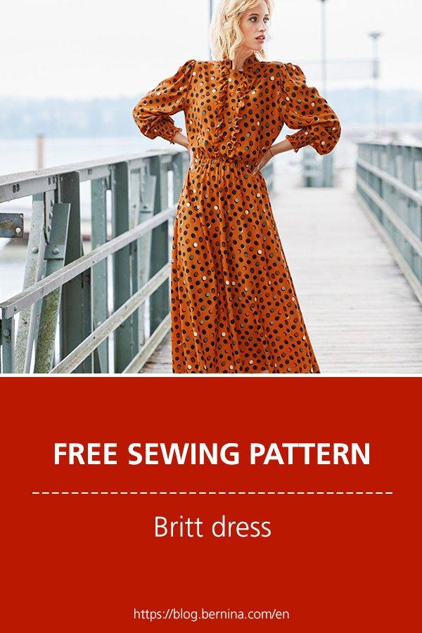 "Free sewing pattern & tutorial: ""Britt"" Dress"