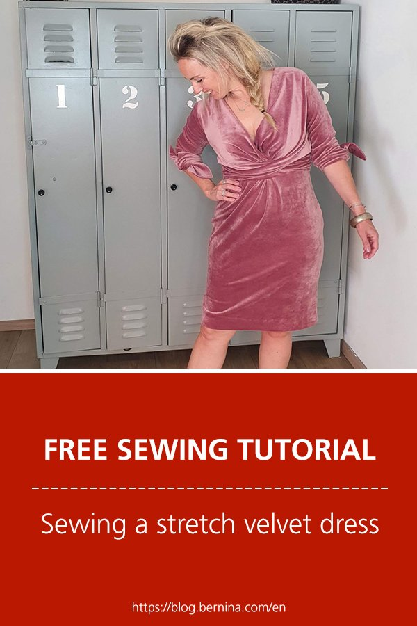 Free sewing tutorial: Sewing a stretch velvet dress