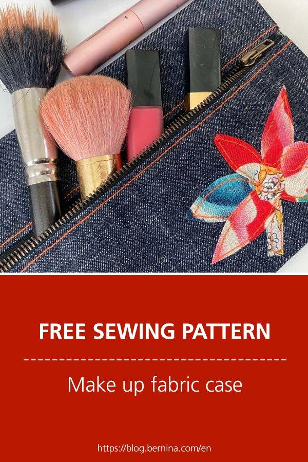 Free sewing pattern & tutorial: Make up fabric case