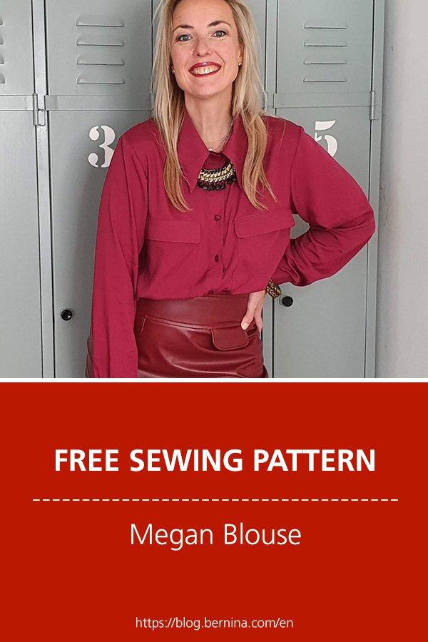 Free sewing pattern & tutorial: Megan Blouse