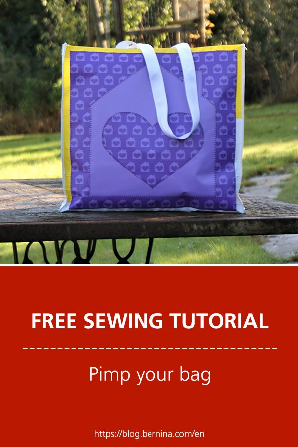 Free sewing instructions: How to pimp a bag