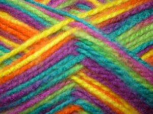 Regenboog wol
