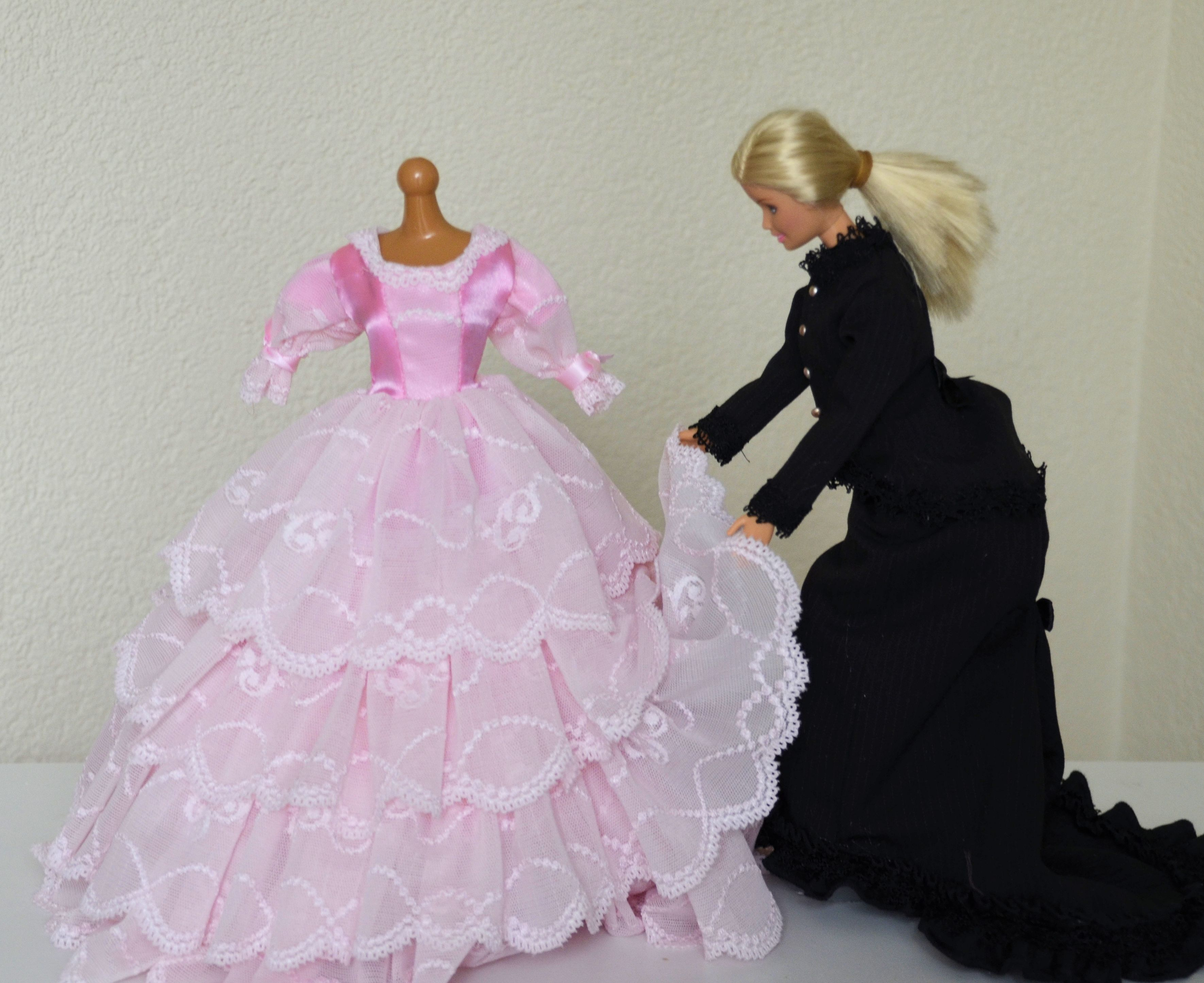 barbie jurk roze 2