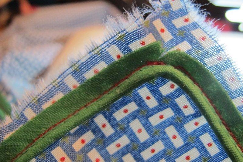 hv deken paspel inknippen voor bocht