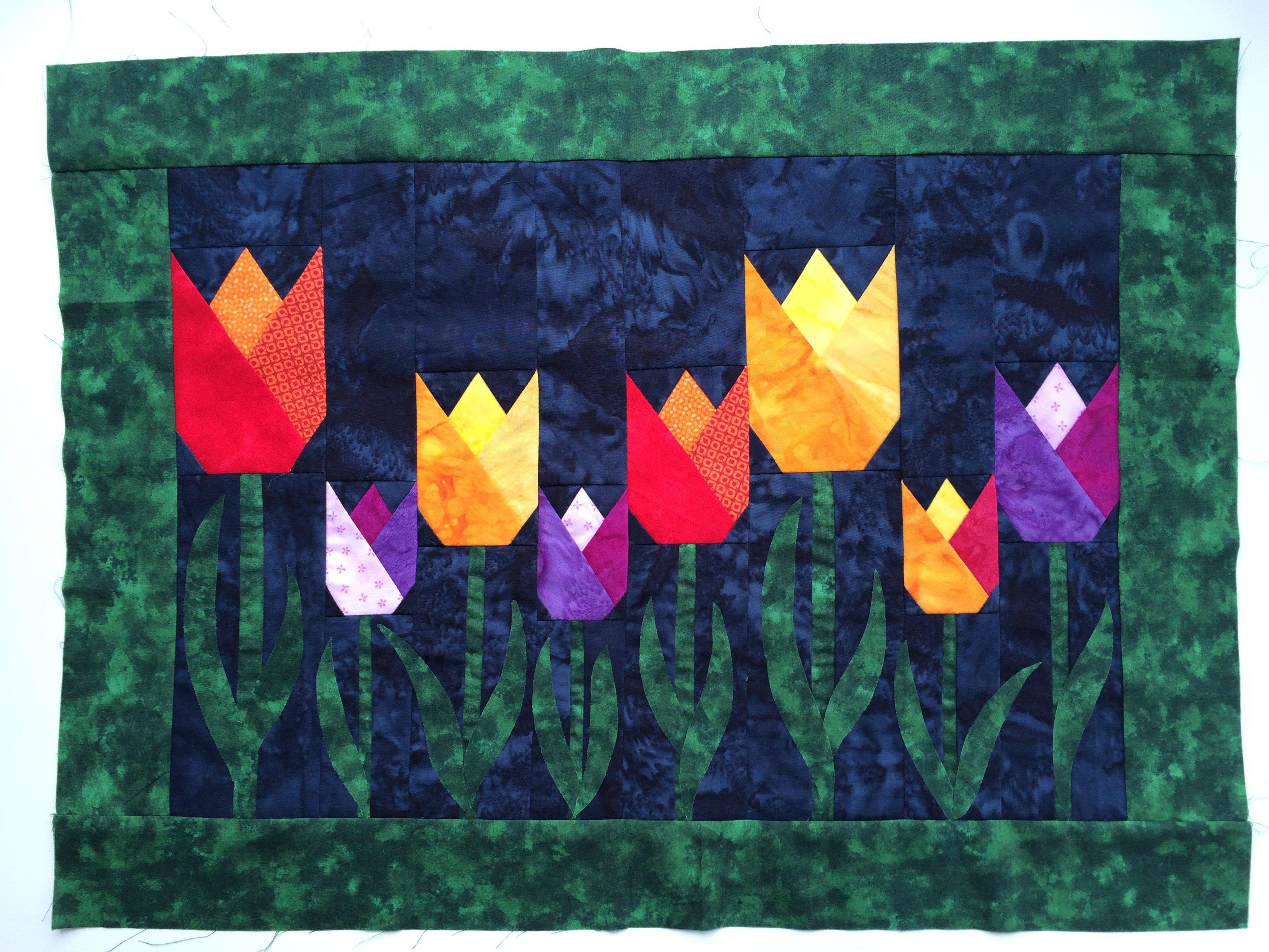 Marij Quilten En Patchwork.Tulpen Uit Amsterdam Bernina Blog