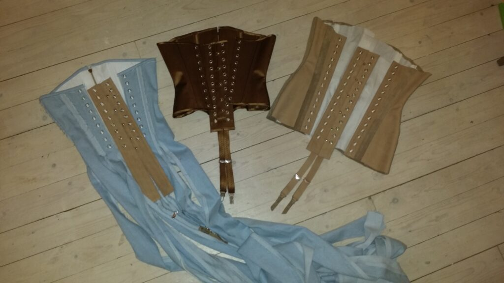 3 Corsets made for MAISON THE FAUX by BESPOKE CORSETRY
