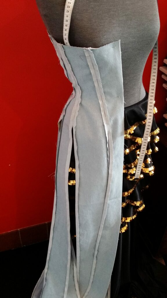 Denim Corset made for MAISON THE FAUX by BESPOKE CORSETRY