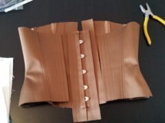 Silk Satin Corset made for MAISON THE FAUX by BESPOKE CORSETRY