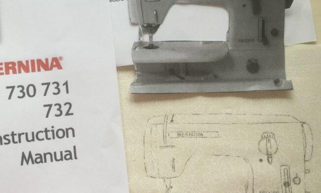 Het natekenen van de naaimachine