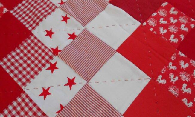 deken rood-wit detail 1