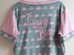 Fabric lettering rugpand