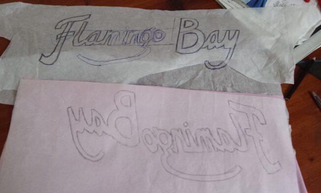Fabric lettering tekst maken