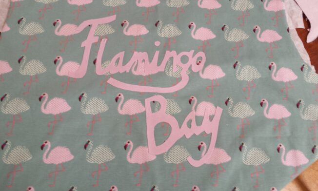 Fabric lettering tekst strijken