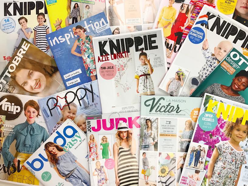 magazines inspiratie tijd naaimachine