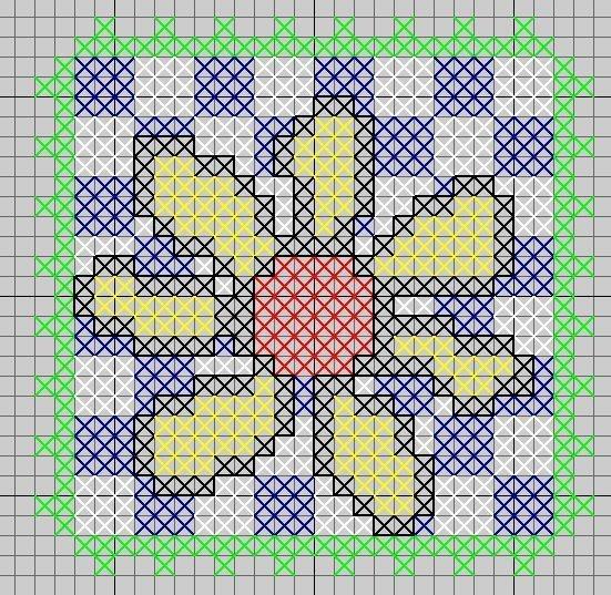 bloemrandkruissteken