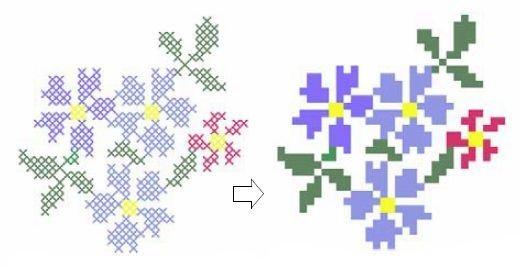 kruissteekenvakjesgekleurd