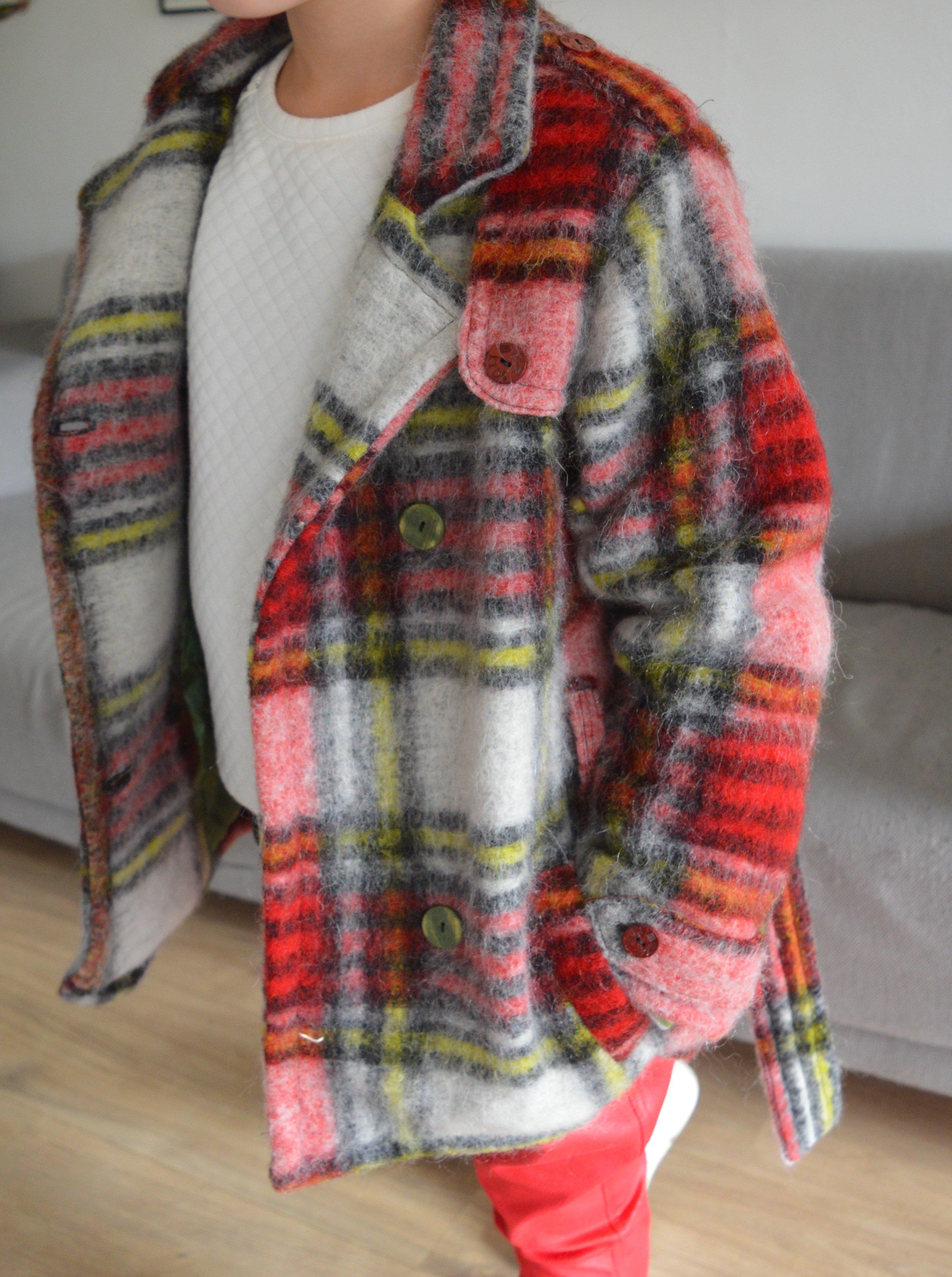 Goede Trenchcoat van wol; warme winterjas nog op tijd voor komend winter FD-76