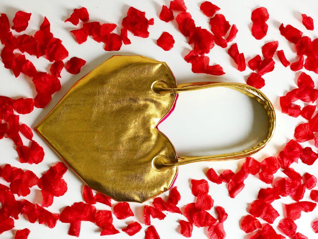Hart van goud Gouden hart tas tutorial