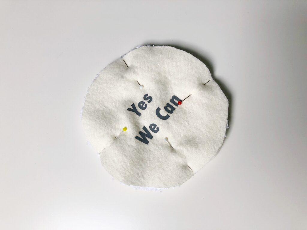 katoenen wasbare zoogcompressen naaien