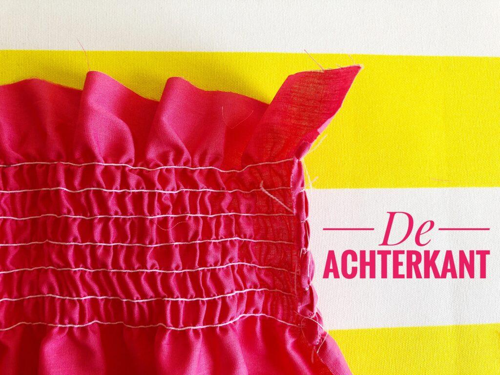 naaien met elastisch garen rimpelen smocken