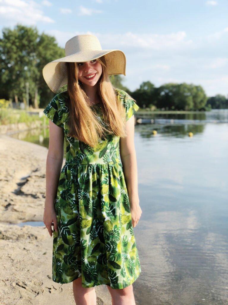 zakken zetten in zijnaad zonnige zomerjurk of rok