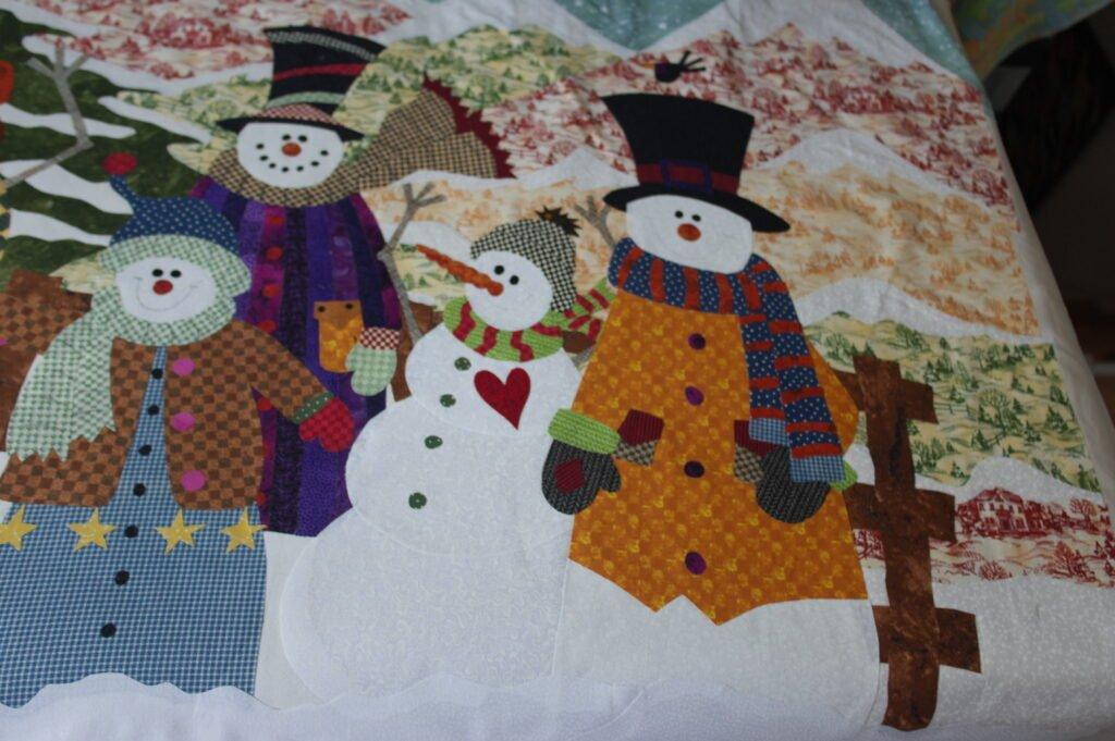 Snowman Gathering III Quilt Top