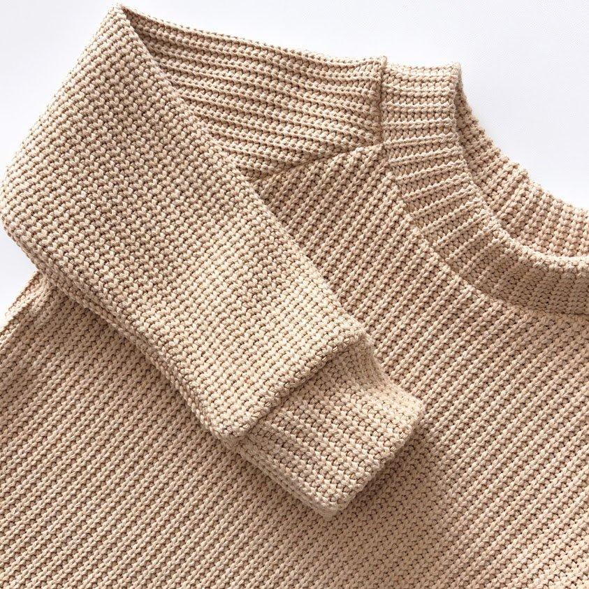 het naaien van grof gebreide stoffen