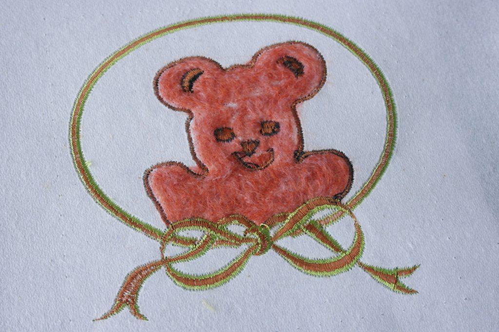De achterkant van het borduurwerk